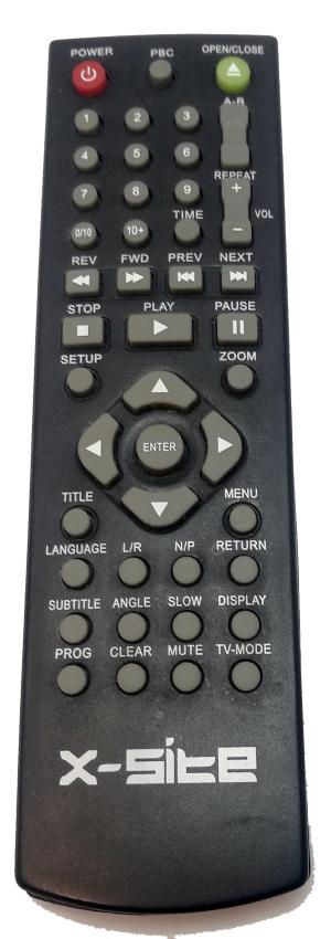 X-site xs-8100 náhradní dálkový ovladač jiného vzhledu