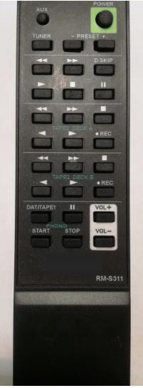Sony RM-S311, TA-F345R náhradní dálkový ovladač se stejným popisem