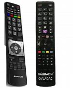 Finlux RC5112, RC5110 náhradní dálkový ovladač se stejným popisem