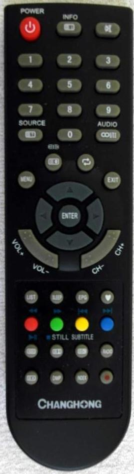 Tesla  LT32GY680EB CHANGHONG EF46T718D náhradní dálkový ovládač jiného vzhledu