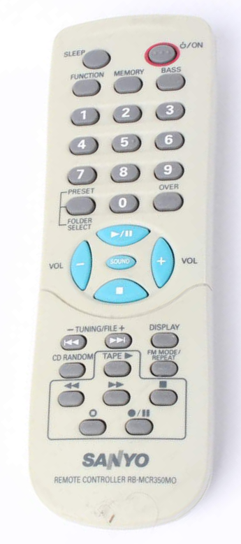 SANYO RB-MCR350MO, DC-MP7500 náhradní dálkový ovladač jiného vzhledu.