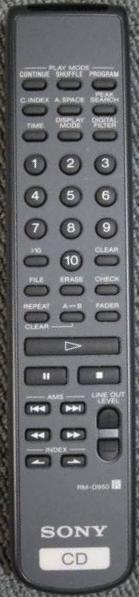 Sony RM-D950 náhradní dálkový ovladač jiného vzhledu