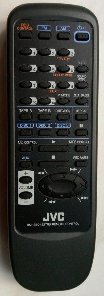 JVC RM-SED452TRU náhradní dálkový ovladač jiného vzhledu
