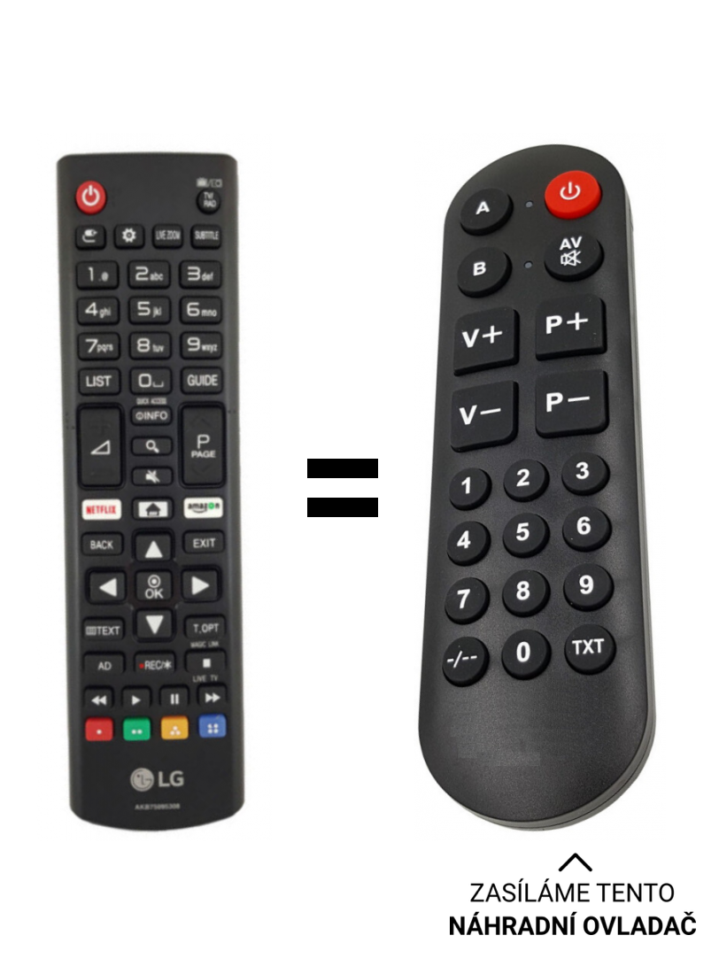 LG 32LK6200PLA replacement remote control for the elderly