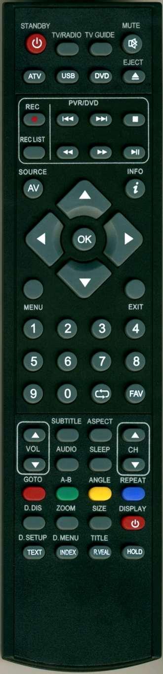Technika, Vision plus, Umc LCD TV náhradní dálkový ovladač jiného vzhledu UMC XMU-RMC-0019
