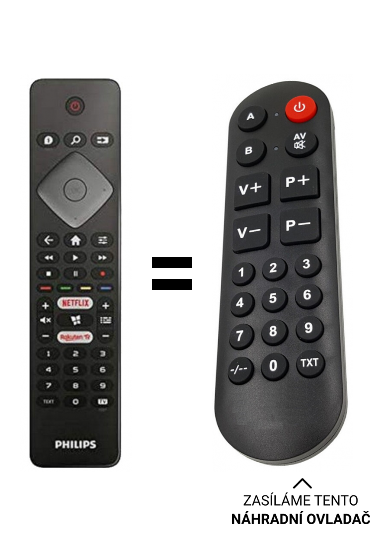 Philips 58PUS7505 / 12 replacement remote control for seniors