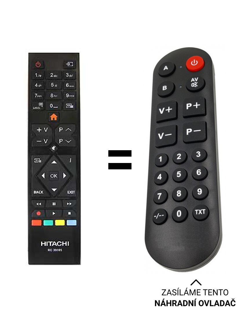 JVC LT-32VF42L replacement remote control for seniors