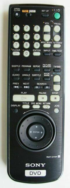 SONY RMT-D111P náhradní dálkový ovladač jiného vzhledu DVP-S725D