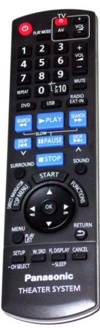 Panasonic N2QAYB000366 náhradní dálkový ovladač jiného vzhledu