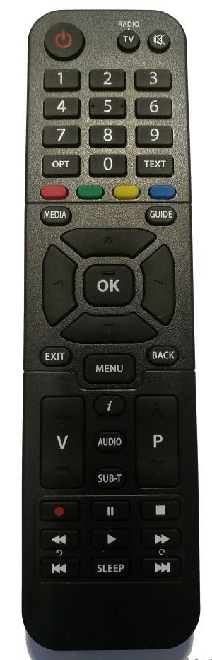 Dálkový ovládač Zircon Air HbbTV - originál