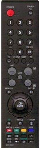 SAMSUNG -  BN59-00609A = BN59-00507A  náhradní dálkový ovladač  pro LE26S8 LE32S8 LE37S8 LE40S8 LE46S8