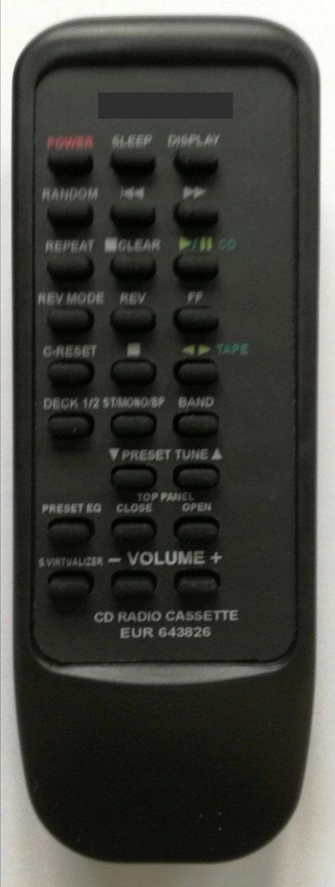 Panasonic RX-ED77, EUR643826 náhradní dálkový ovladač se stejným popisem