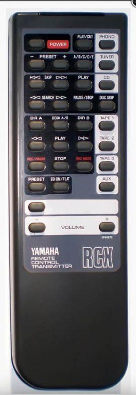 Yamaha RX-360 AX-870 AX-1070 AX-1200 VP84970 VM83930 náhradní dálkový ovladač jiného vzhledu