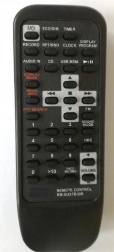 JVC RM-SUXTB30R, UX-TB30 náhradní dálkový ovladač se stejným popisem