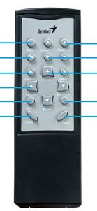 Genius SW-HF 5.1 4800 VER II náhradní dálkový ovladač jiného vzhledu.