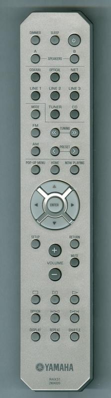 Yamaha RAX31, R-N301 originální dálkový ovladač ZN043200