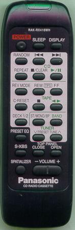 Panasonic RAK-RX416WH,  RX- ED90 náhradní dálkový ovladač jiného vzhledu