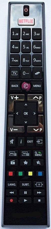 Telefunken 30092061 RC A49130 originální dálkový ovladač byl nahrazen RC4995