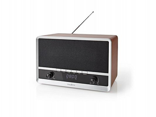 Rádio NEDIS RDFM5200BN BROWN/BLACK