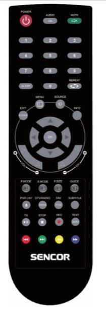 SENCOR SLE2465DTC náhradní dálkový ovladač jiného vzhledu