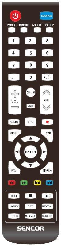 Sencor SLE3220TC originální dálkový ovladač