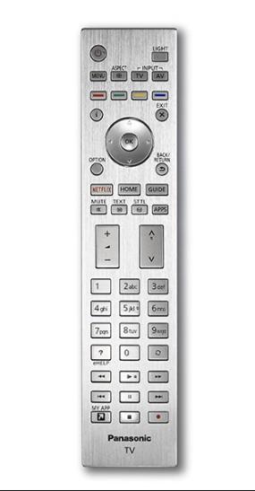 Panasonic N2QAYA000144 originální dálkový ovladač PODSVÍCENÝ, KOVOVÝ PŘEDNÍ KRYT
