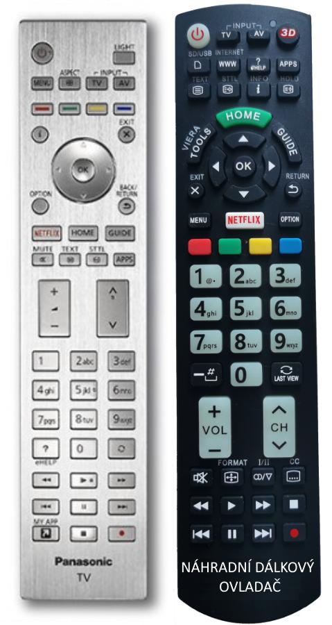 Panasonic N2QAYA000144 náhradní dálkový ovladač se stejným popisem