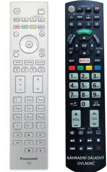 Panasonic N2QAYA000074 náhradní dálkový ovladač se stejným popisem