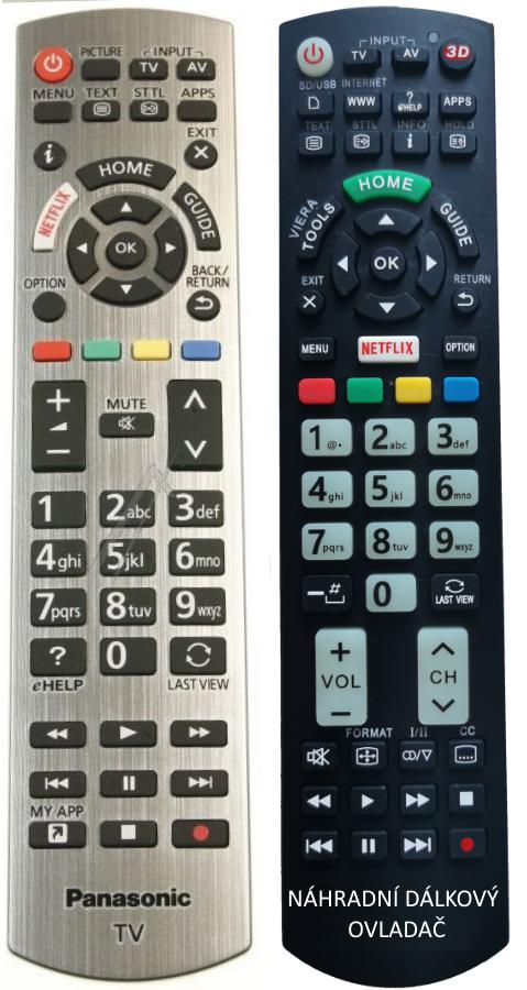 Panasonic N2QAYB001178 náhradní dálkový ovladač stejným popisem