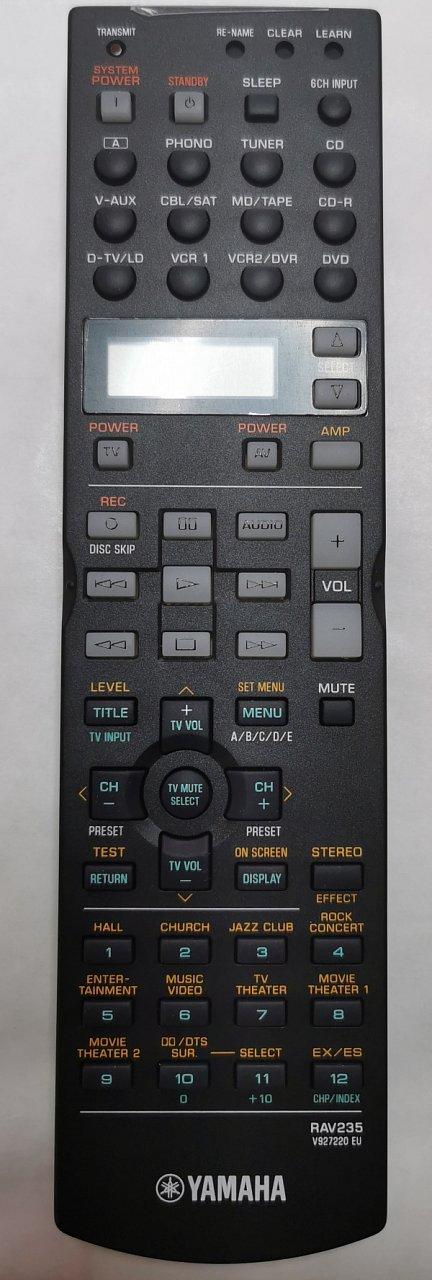Yamaha RAV235 originální dálkový ovladač V9272200