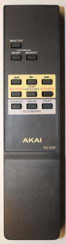 AKAI RC-G57, DX-57 náhradní dálkový ovladač se stejným popisem