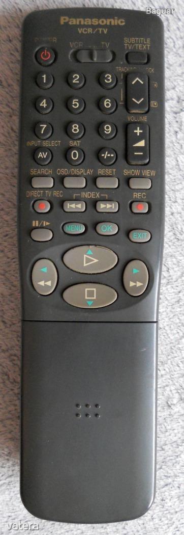 Panasonic VEQ1692, VEQ1694, VEQ1866, VEQ1873, VEQ2058, VEQ2227 náhradní dálkový ovladač jiného vzhledu.