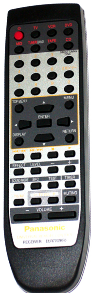 Panasonic EUR7702KF0 náhradní dálkový ovladač jiného vzhledu SH-BE90, SA-HE100E, SA-HE90, SA-HT400