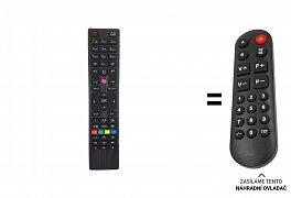 Finlux TV24FDM5660 náhradní dálkový ovladač pro seniory.