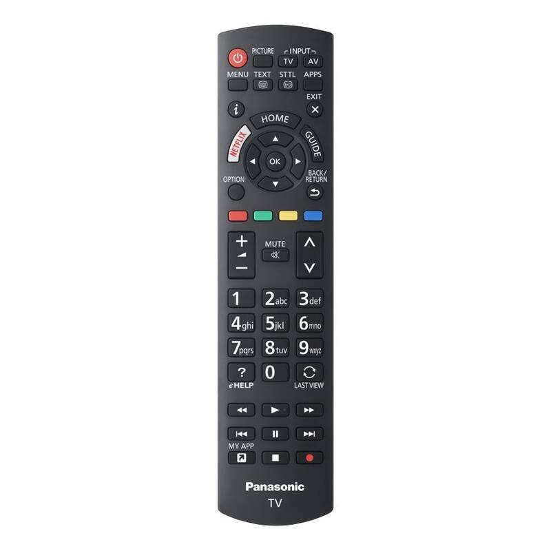 Panasonic TX-40FS503E náhradní dálkový ovladač jiného vzhledu.
