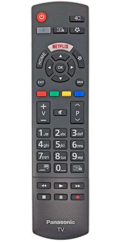 Panasonic TX-24GS350E náhradní dálkový ovladač jiného vzhledu.