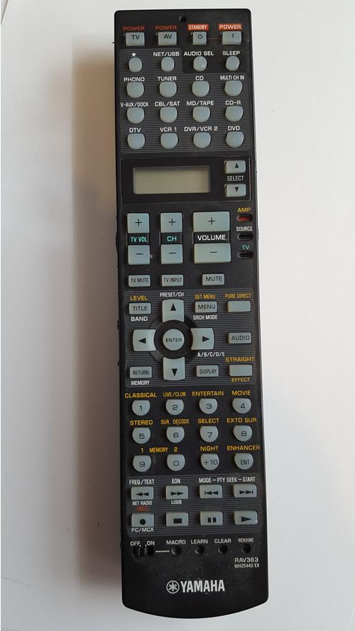 Yamaha RAV363 originální dálkový ovladač