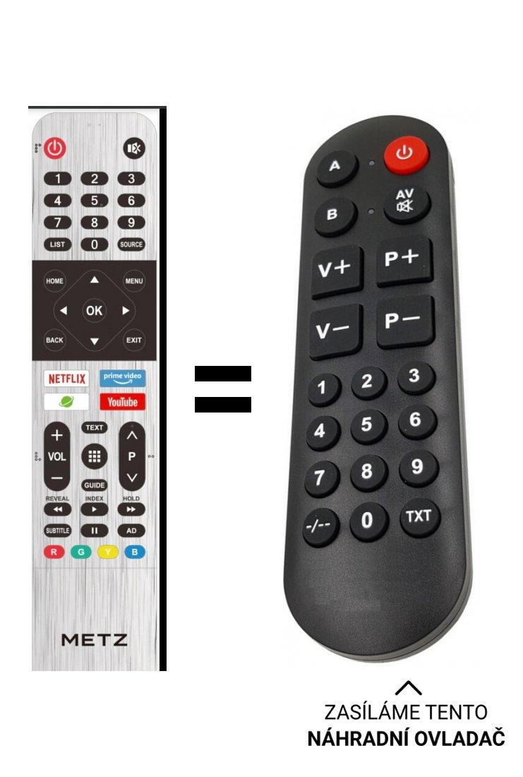 Metz 50MUC5000 náhradní dálkový ovladač pro seniory.