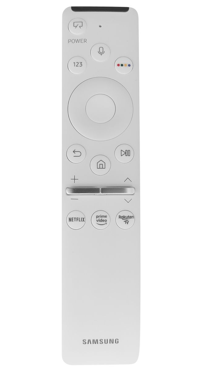 Samsung QE55LS03T náhradní dálkový ovladač jiného vzhledu.