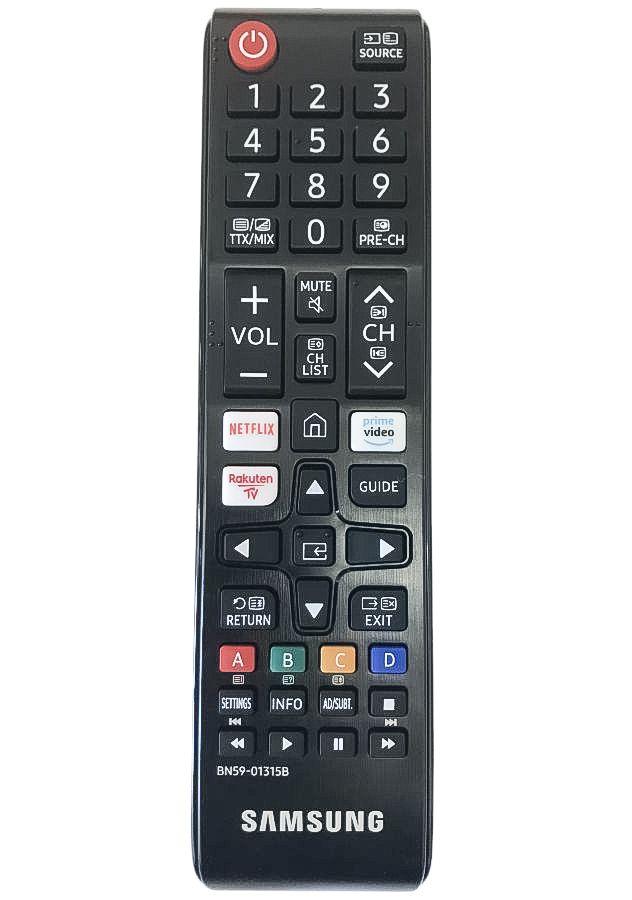 Samsung QE43Q67T náhradní dálkový ovladač jiného vzhledu.