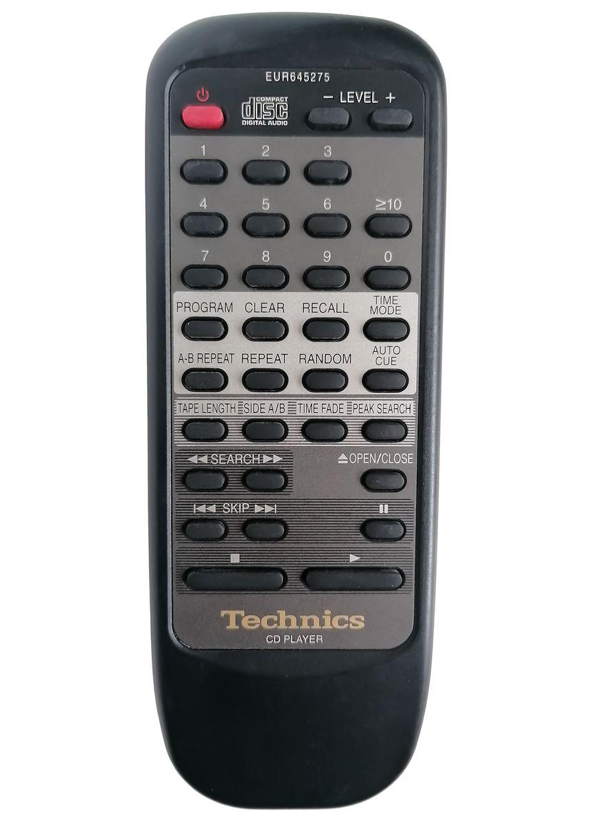 Technics  EUR645275, SL-PG4 náhradní dálkový ovladač jiného vzhledu