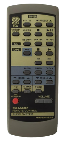 Sharp RRMCG001SJSB náhradní dálkový ovladač jiného vzhledu