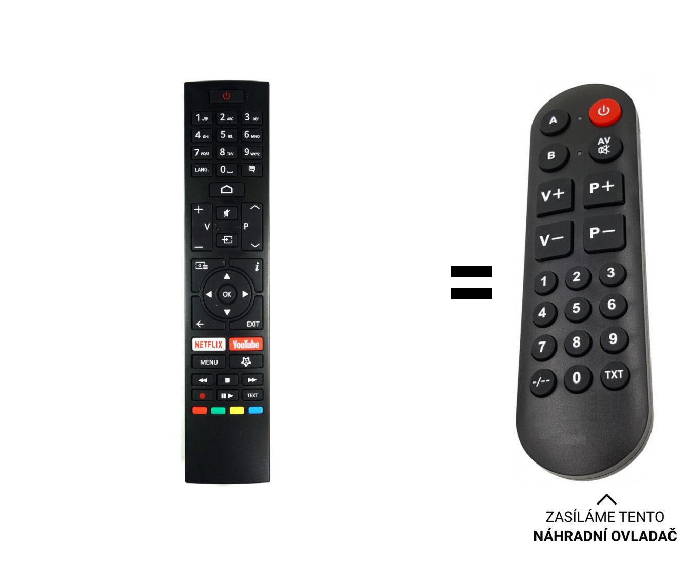 TOSHIBA CT-8557 replacement remote control for seniors
