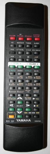 Yamaha RAV241, RX-V630RDS, V829510 náhradní dálkový ovladač se stejným popisem