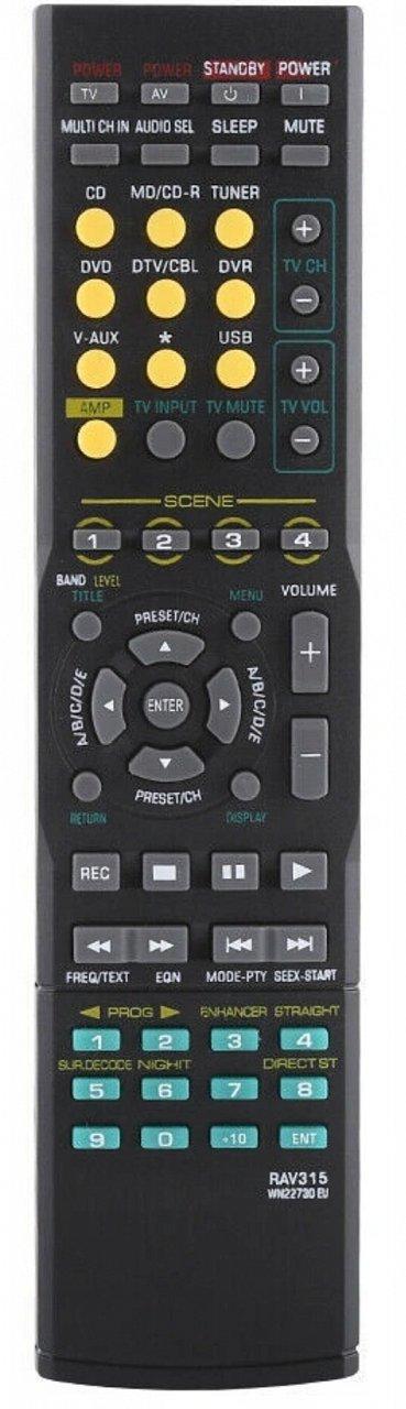 Yamaha  RAV315, RAV283, RAV311, RAV312, RAV328 náhradní dálkový ovladač se stejným popisem.