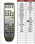 Technics SE-HD560 náhradní dálkový ovladač jiného vzhledu