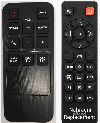 LG COV33552433, SK1 náhradní dálkový ovladač jiného vzhledu