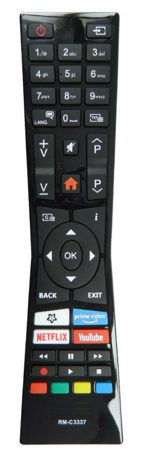 JVC RM-C3331 náhradní dálkový ovladač stejného vzhledu