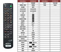 Sony MDS-JE530 náhradní dálkový ovladač jiného vzhledu