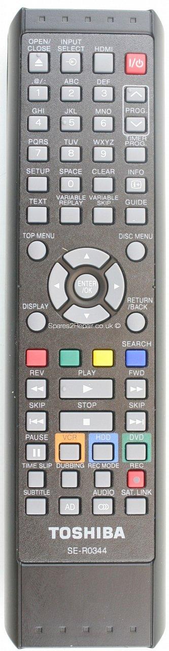 Toshiba SE-R0344, RDXV60KB náhradní dálkový ovladač jiného vzhledu